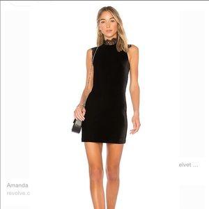 Amanda Uprichard Black Velvet Dress